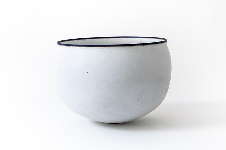 A large white stoneware bowl, 2000