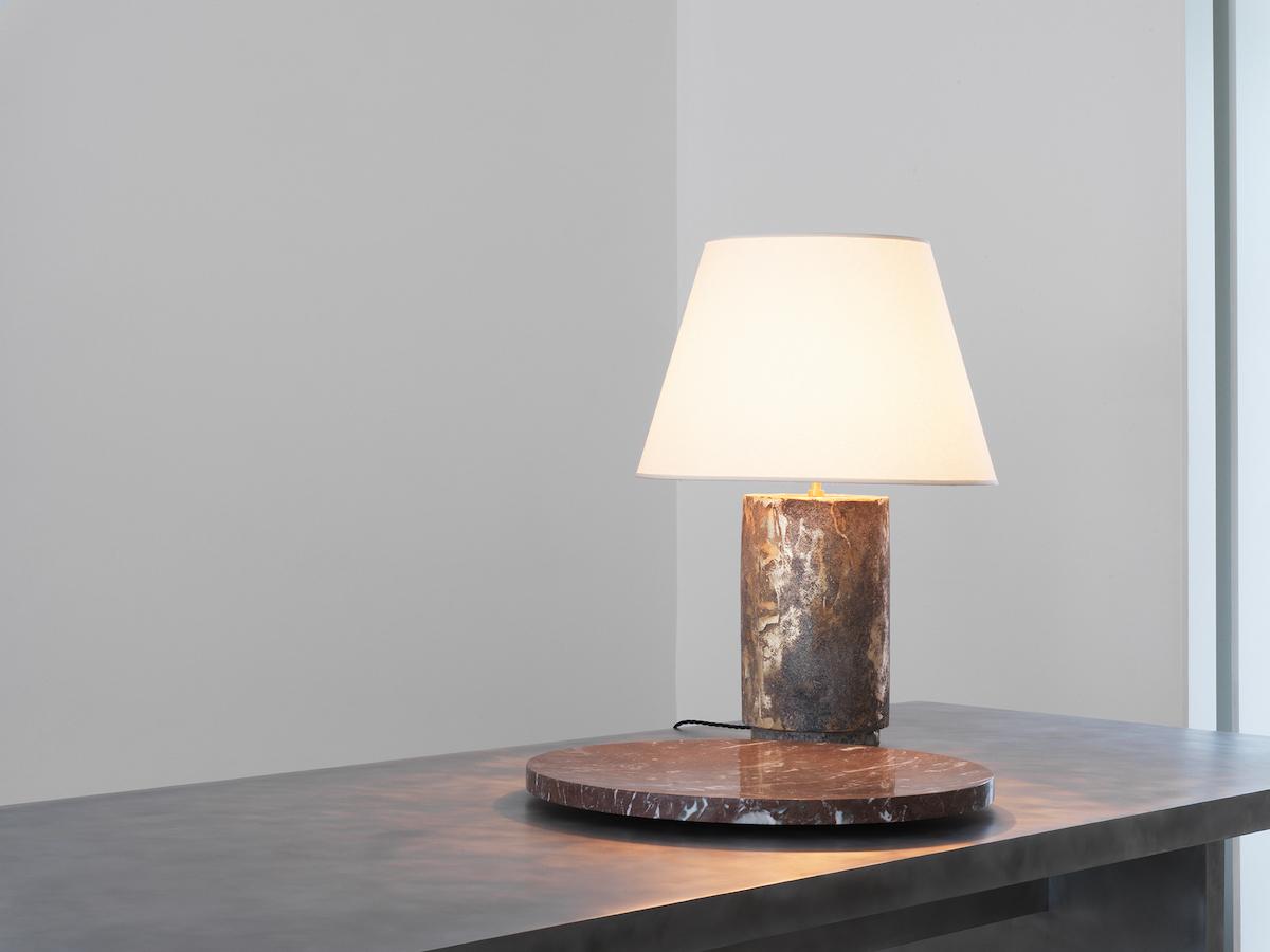 Trebord Table, Segment 60 (Plate), Panser Brut (Lamp)