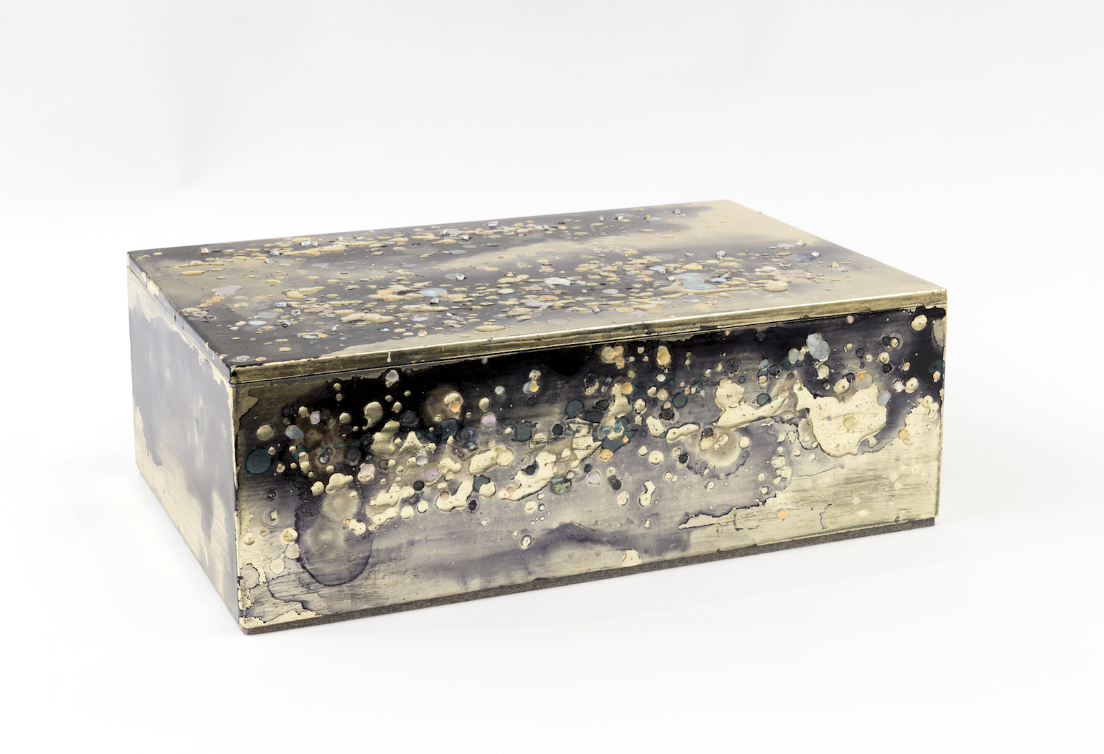 Untitled Pale Gold and Mother of Pearl Box, 2016